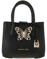1923b5b7d76d Michael Kors - Mercer Extra Small Acrdion Tab Shopping Bag Black - Lyst