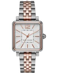 Marc Jacobs - Vic Ladies Watch Brushed Rosegold/silver - Lyst