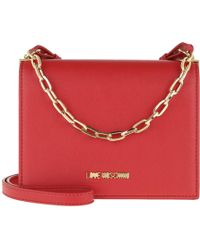 df20b3ba5598 Love Moschino Borsa Quilted Nappa Pu Chain Crossbody Bag Rosso in ...
