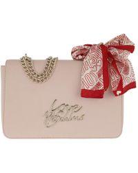 Love Moschino Black Chain Handle Scarf Cross-body Bag in Black - Lyst 2f3a1cc99d