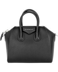 Givenchy - Antigona Mini Bag Black - Lyst