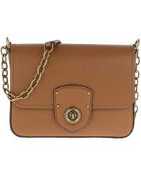 Lauren by Ralph Lauren - Millbrook Crossbody Bag Pebbled Leather Lauren Tan - Lyst