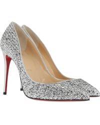 Christian Louboutin - Pigalle Follies 100 Metallic Court Shoes - Lyst