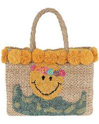 Serpui - July Smiley Basket Natural - Lyst