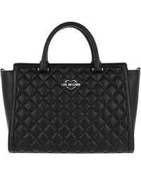 Love Moschino | Quilted Nappa Handle Bag 2 Nero | Lyst