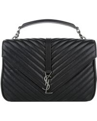 Saint Laurent | Ysl Monogramme Large University Bag Black | Lyst