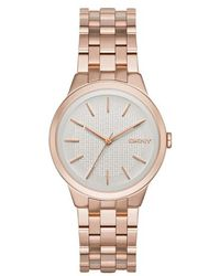 DKNY - Park Slope Watch Rosegold - Lyst
