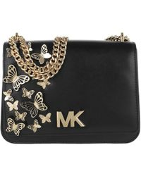 d188265fe6b2 Michael Kors - Mott Large Butterfly Chain Shoulder Bag Black - Lyst