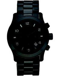 Michael Kors - Mk8157 Runway Chronograph Watch Blackout - Lyst