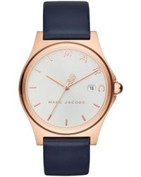 Marc Jacobs - Mj1609 Henry Classic Watch Rosegold/white - Lyst