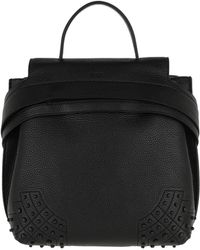 Tod's Wave Backpack Small Leather Black