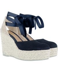 Manebí - Hamptons Hwv Suede Leather Wedges Patriot Blue - Lyst