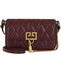 74b21cbecd1a Givenchy Cross3 Bag Grained Leather Suede Aubergine graphite in ...