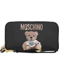 Moschino | Zip Around Wallet Teddy Fantasia Nero | Lyst