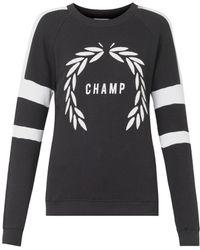 Zoe Karssen Champ-Print Sweatshirt - Lyst