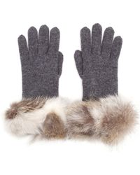 Inverni - Fur Trim Gloves - Lyst
