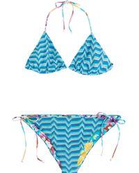 Missoni Mare Reversible Knit Triangle Bikini - Lyst