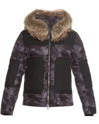 Moncler Dedion Fur-trim Coat gray - Lyst