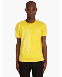 Stone Island Shadow Project Mens Yellow Geometric Print Cotton Tshirt - Lyst