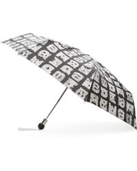Marc By Marc Jacobs - Black And White Stacked Logo Umbrella - Lyst