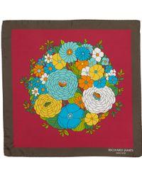 Richard James - Flowerball Twill Pocket Square - Lyst
