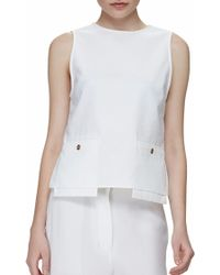 Acne Studios Chester Top Optic White - Lyst