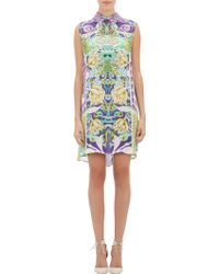 Mary Katrantzou Mixed-Print Silk Shift Dress - Lyst
