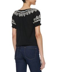 Joie Dolina B Embroidered Blouse - Lyst