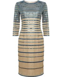 Alice By Temperley 3/4 Sleeve Ling Striped Dress - Lyst