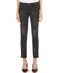 Stella McCartney Zipdetail Skinny Highrise Jeans Black - Lyst