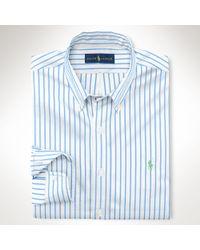 Ralph Lauren Striped Cotton Poplin Shirt - Lyst