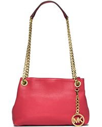 MICHAEL Michael Kors Leather Chain Shoulder Bag - Lyst