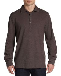 Hickey Freeman Merino Wool Cotton Longsleeve Polo - Lyst