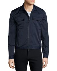 ATM   Tech Zip-up Shirt Jacket   Lyst
