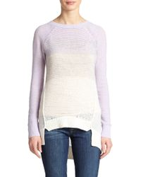 Rebecca Taylor Virgin Wool & Cashmere OmbrÉ Pullover - Lyst