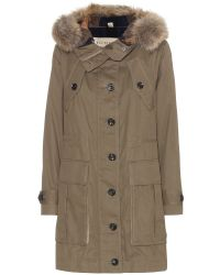 Burberry Brit Parka with Fur-trimmed Hood - Lyst