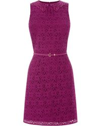 Oasis Daisy Lace Collar Shift - Lyst