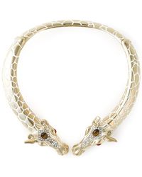 Roberto Cavalli Giraffes Rigid Necklace - Lyst