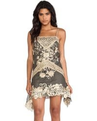 Anna Sui Maiden Faire Lace Tank Dress - Lyst