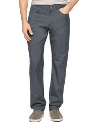 Calvin Klein Checked Slim-Fit Five-Pocket Pants - Lyst
