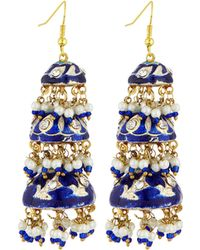 Chamak by Priya Kakkar - Tier Drop Earrings - Lyst