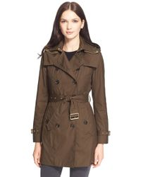 Burberry Brit | 'reymoore' Trench Coat With Detachable Hood & Liner | Lyst