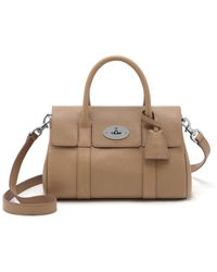 Mulberry Small Bayswater Satchel beige - Lyst