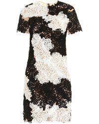 Erdem Cliona Matelasse Peabody-Print Dress black - Lyst