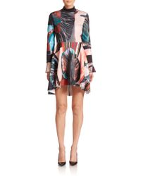 Clover Canyon Autumn Stripe Mockneck Dress multicolor - Lyst