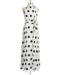 Cynthia Steffe Polka Dot Maxi Dress white - Lyst
