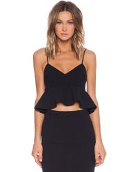 Nicholas V-Neck Flared Crop Top - Lyst