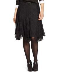 Lauren by Ralph Lauren - Chantilly Lace Handkerchief Hem Skirt - Lyst