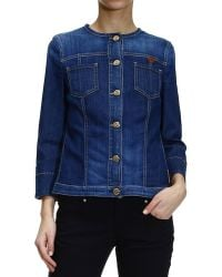 Armani Jeans Jacket Denim Without Collar - Lyst