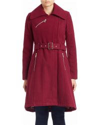 BCBGeneration - Belted Asymmetrical Coat - Lyst